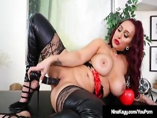 Big Butt Babe Nina Kayy Punishes All Her Small Cock Fans