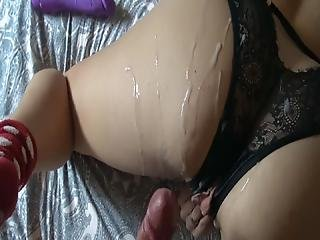 3 Times Cum In Row Horny Guy And His Wife