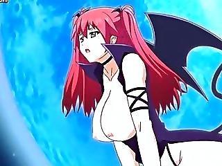 Redhead Anime Minx Riding Huge Dick