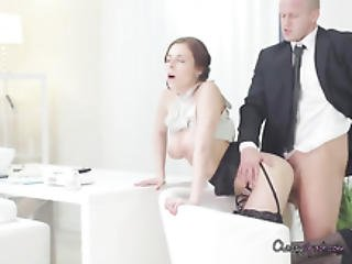 Boss Cums On Kinky Secretary Antonia Sainzs Face