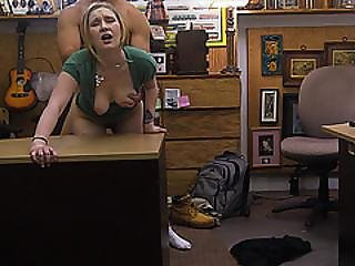 A Hot And Sexy Blonde Babe Sucks Cock For A Certain Cash
