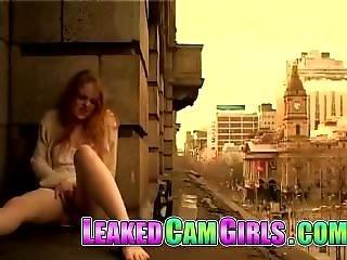 Redhead Girl Masturbation In Window By Blondelover: Porn 8f