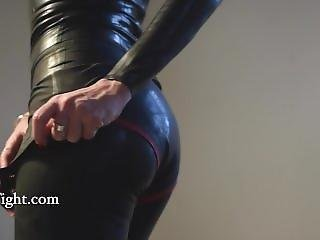 3 Layers Of Latex Under Leather Skirt And Stockings - Shinetight.com