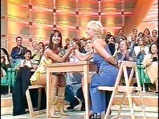 Woman Armwrestling On Italian Tv 1
