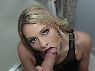 Slutty Babe Khloe Kapri Dick Sucking Lips In Action