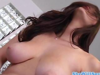 Slowmotion Squirting Teen With Saggy Tits
