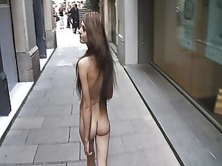 Public Nude Girl