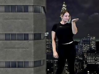 Giantess Koa Strolling The City