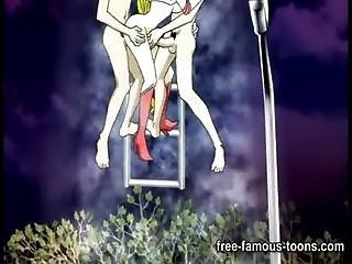 Anime, Piirretty, Sarjakuva, Hentai, Orgiat, Merimies, Toon