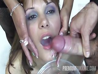 Premium Bukkake - Michelle Swallows 71 Huge Mouthful Cumshots