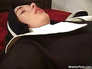 Fucking, Hardcore, Masturbation, Nun