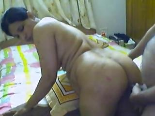 Desi Aunty Getting Fucked Doggy Style At Home