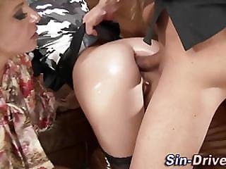 Wam Glam Babe Gets Anal