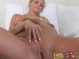 Fakeagentuk Stunning Blonde Czech Chick Falls For Fake Sex Casting
