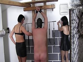 Hard Whipping Of Two Slaves Merciless Punishment