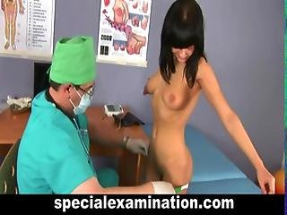 Sweet Teen Girl And Horny Gynecologist
