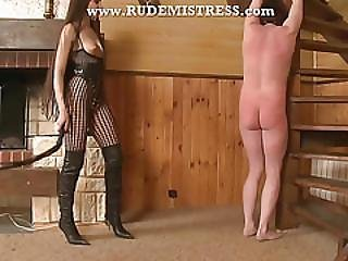 Classy Domina Whips Her Sub