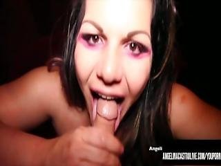 Angelina Castro Make A Deal For A Mouthful Of Cock