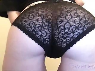Cute Emo Gfe Black Lace Panties Ass Worship