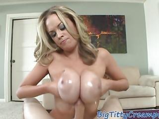 Oiledup Classy Milf Enjoys Tittyfucking