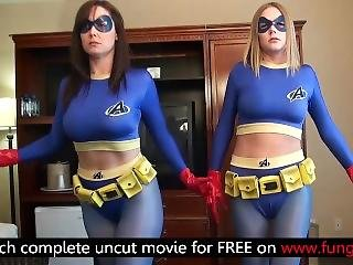 Superheroines Supergirls Vs. Leotard Woman - Lezdom Pantyhose Fucking