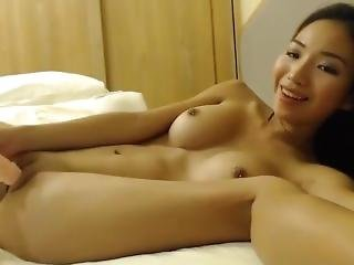 Beautiful Asian Doll Maddie With Cute Face Fucks Pussy