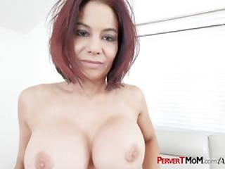 Cock Hungry Stepmom Takes Her Horny Stepsons Big Cock Deep In Her Cunt
