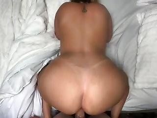 Perfect Ass Latina Girlfriend Gets Anal Creampie