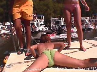 Random Girl Naked Public Debauchery Party Cove Ozarks Missouri