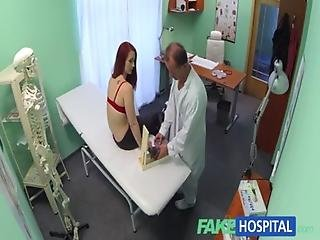 4502742 Fakehospital Sexy Redhead Surprises Doctor With Whats Inside