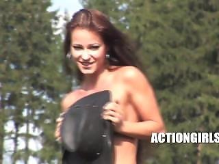 Kristina Walker Topless Horse Ride
