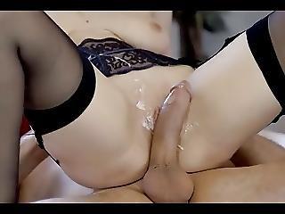 Big White Cock Reverse Cowgirl Cumshot