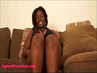 Big Fat Black Ugly Whore Gets Fuck And Footjob Cum On Feet