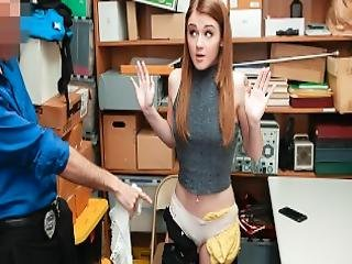 Shoplyfter Teen Thief Fucked By Security Guard
