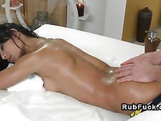 Ass, Babe, Banging, Beautiful, European, Fucking, Hardcore, Massage, Oiled, Orgasm, Petite, Tanned
