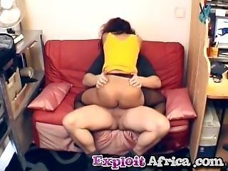 African Ebony Blowjob Riding Interracial Cowgirl