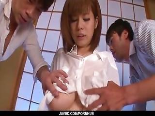 Huge Tits%2C Airu Oshima%2C Porn Play On Two Massive Cocks
