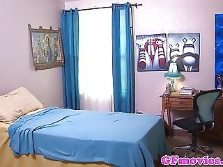 Lesbian Girlfriend Queening Bff In Dorm
