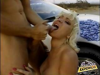 Hitcher Blonde Jizzed And Left On The Road