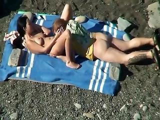 Our First Holiday Break In 2019 I Saw My 37 Years Old Mom With Her New Boyfriend On A Remote, But Not Entirely Deserted Beach They Did Not Notice Me Filming Them People Passed By