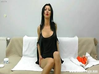 Hotkinkyjo - Takes 9 Balls In Her Asshole