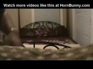 Chubby Brunette Fucked Hard On A Bed And Creampied - Hornbunny.com