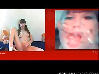 Webcamgirl Surprised With Her Own Facial