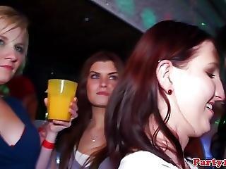 Handjob Party Babes In Glamorous Nightclub