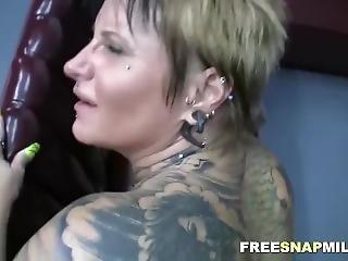 ασιατικό, μεγάλο βυζί, γαμήσι, σκληρό, Milf, τατουάζ