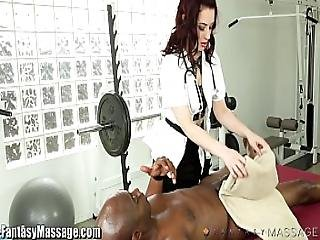 Masseuse Takes Advantage Of Clients Big Cock