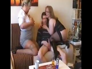 Skinny Boy Can T Handle With Two Busty Mature Bbw Milf