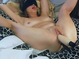 Slutsusan With Legs Spread Wide Open With Spread Cunt And Toys In Ass