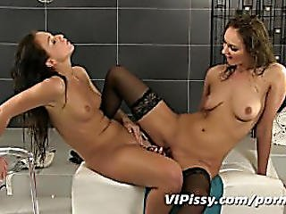 Naughty-games-leave-lesbian-lovers-soaked-with-pee