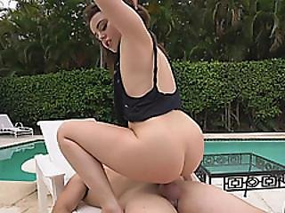 Perkyd Brunette Teen Tied Fucking Blows Big Dick